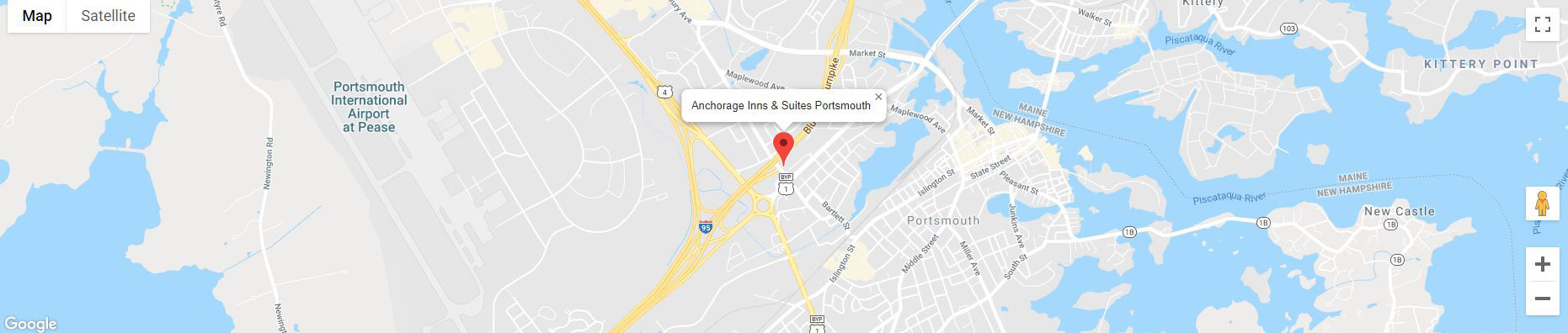 map of Anchorage Inns & Suites Portsmouth